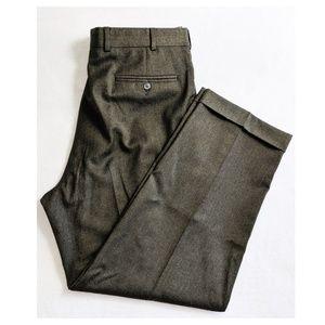 BROOKS BROTHERS 346 Olive Dress Pleat Trousers